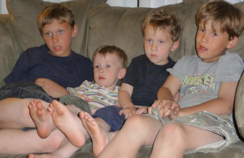 Joshua, Liam, Dylan and Andrew May 2001
