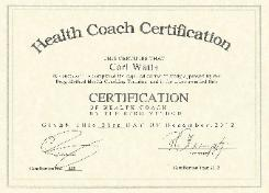 Health Coach Certificate Carl Watts