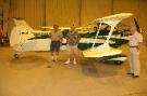 This is Mary's brother-in-law Chris, his beautiful airplane he built, Carl and Larry Riney, Mary's dad