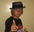 Sean  Baaska wearing his hat in about 2006