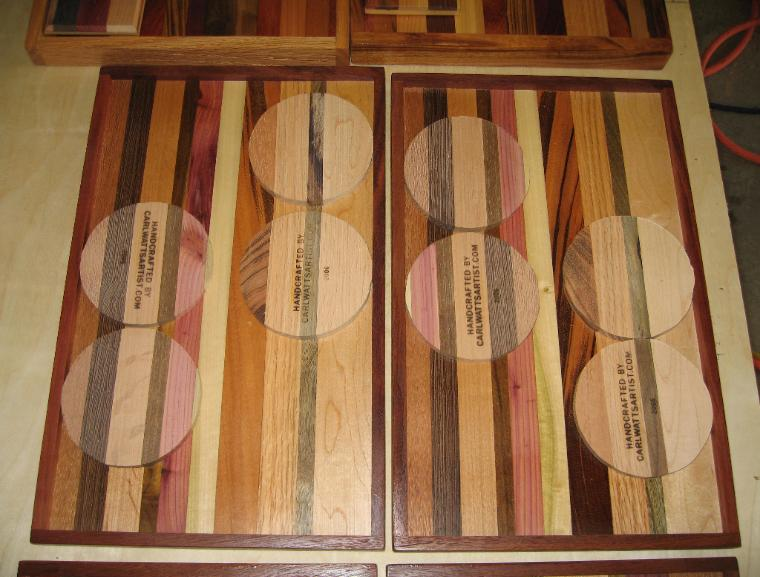 Exoticwood Art Trays, unique solid exotic hardwoods